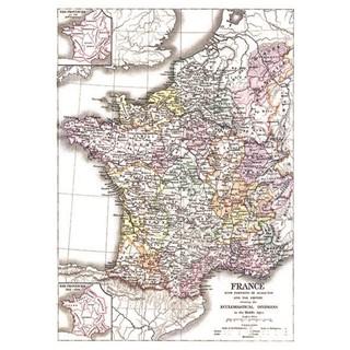 Exclusive Edition Tapijt Kaart Frankrijk  Wereldk