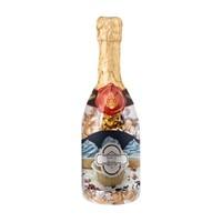 Champagne fles met bonbons