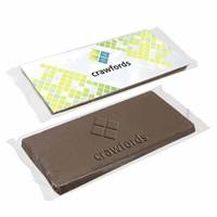 Logo chocolade 17 x 7 cm