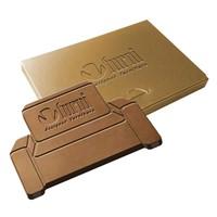 Embossed chocolade eigen vorm klein
