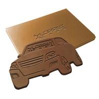 Embossed chocolade eigen vorm groot