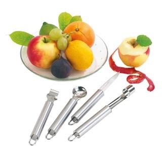 4 delig fruitmessen set FRUITY