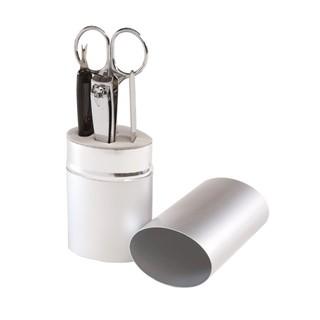 4 delig manicureset in aluminium koker Marseille b
