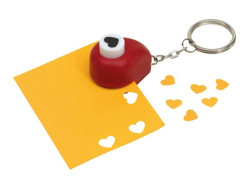 Hartvormige perforator aan sleutelhanger