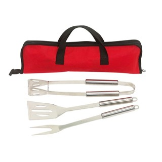 3 pcs barbeque Set in non woven bag Smoky