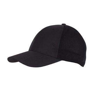 6-Panel cap with Mesh Pitcher, zwart