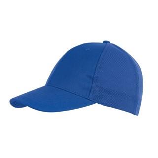 6-Panel cap with Mesh Pitcher,royal bl