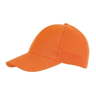 6-Panel cap with Mesh Pitcher,orange