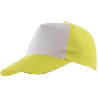 5-Panel Baseball-Cap Shinyyellow/white