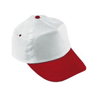 5 panel katoenen baseball cap in twee kleuren comb