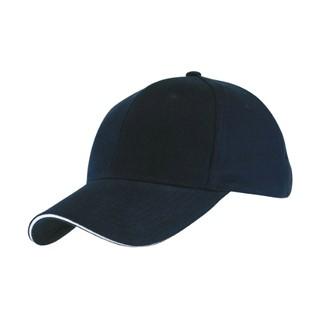 5 panel baseball cap met bollende klep en klittenb
