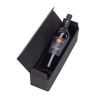 Rode wijn in geschenkdoos