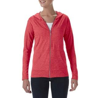 Anvil Tri-Blend Full-Zip Hooded Jacket for her
