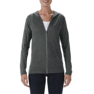 Anvil Jacket Hooded Full-Zip Tri-Blend for her