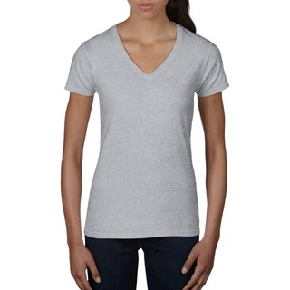 Anvil T-shirt V-neck licht weight SS for her