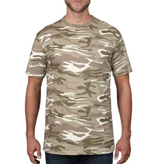 Anvil T-shirt Camouflage Midweight SS