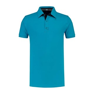 L&S Polo Contrast CotElast SS for him