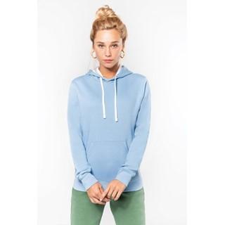 Damessweater Met Capuchon In Contrasterende Kleur