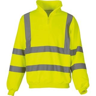 Signalisatie sweatshirt met 14 rits