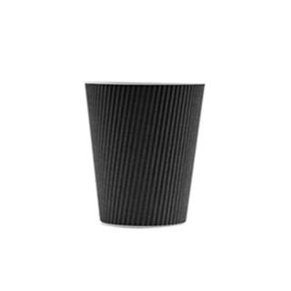 350cc Koffiebeker Ribbel karton zwart Voorbedrukte