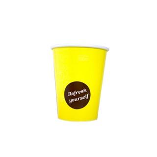 300cc Milkshake beker bekers voorbedrukt geel