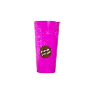 500cc Milkshake beker bekers voorbedrukt roze