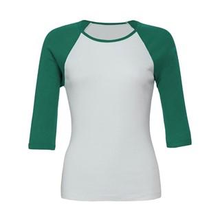 34 Sleeve Contrast Raglan T-Shirt