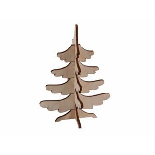 3D wooden-puzzle card fir tree