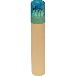 12 gekleurde potloden met puntenslijper