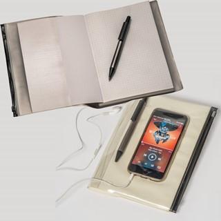 A4 notitieboek met pen en PVC omslag