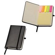 Notitieboekje met notitieblokje en markeerstickers