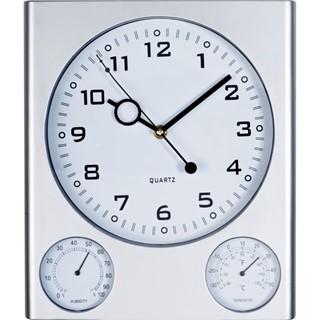 Wandklok met thermometer en hygrometer
