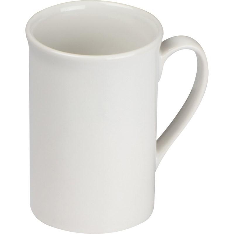 Koffiemok van glanzend witte keramiek