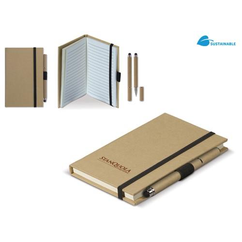 Kartonnen notitieboek A6 + pen