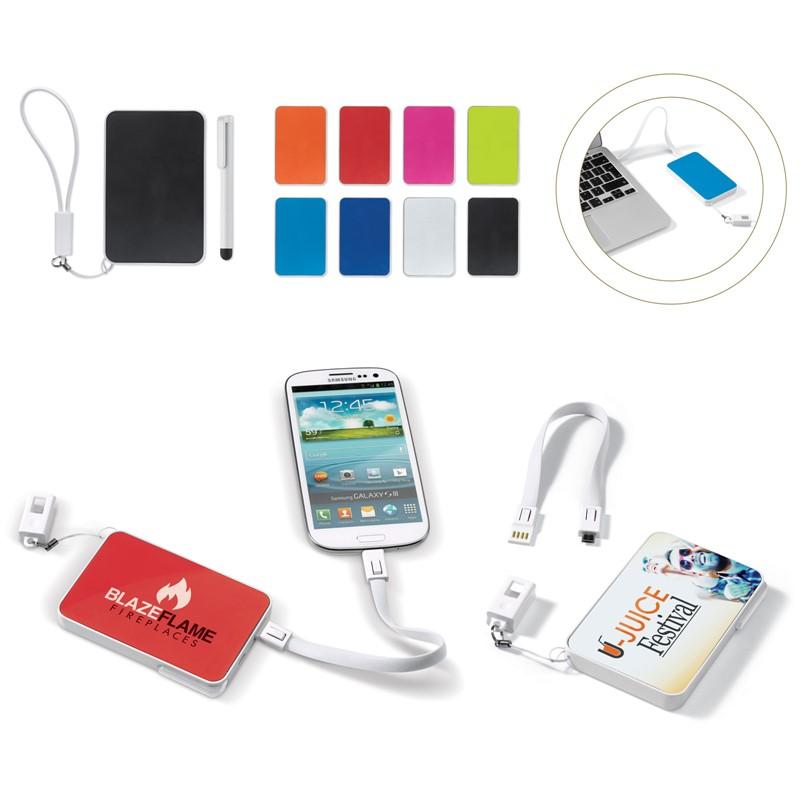 Powerbank, USB en stylus pen in 1