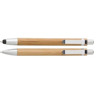 2-Delige bamboe pennenset in kartonnen doosje