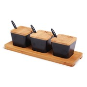 SENZA Bamboo Tapas Tray & Cups