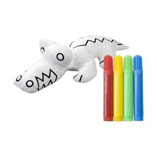 3d kleurset krokodil met 4 stiften