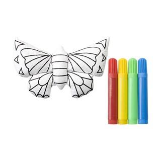 3d kleurset vlinder met 4 stiften