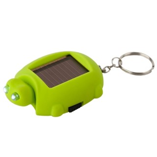 Keyring,Turtle,Flashlicht,solar,green