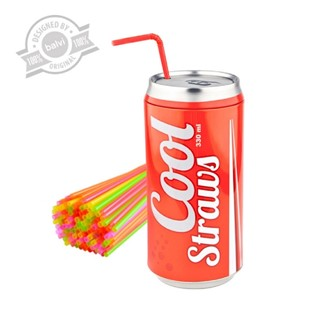 Straws dispenser,Cool straws,red
