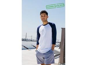 AMA T-shirt Pol/Cot 3/4 Sleeve Raglan